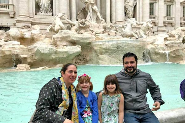 Kids tours of Rome - Trevi Fountain