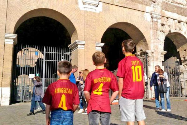 Kids tours of Rome - happy Kids