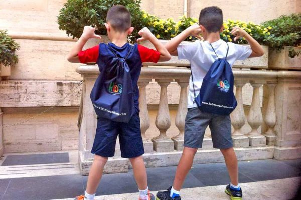 Kids tours of Rome - gifts - happy kids