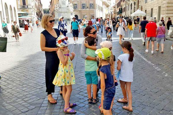 Kids tours of Rome - Spanish Steps
